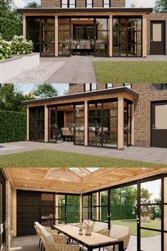 Backyard Canopy, Backyard Patio Designs, Pergola Patio, Diy Patio, Backyard Landscaping, Garden Room Extensions, House Extensions, House Extension Design, House Design