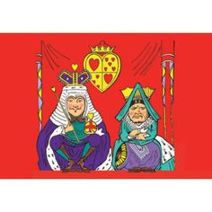 Buyenlarge Alice in Wonderland: The King and Queen of Hearts 28x42 Giclee on Canvas