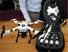 The PlexiDrone has retractable landing gear, which the company says will avoid errant pads...