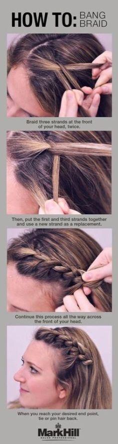 Bang braid. Finally.