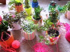 Pequeno Mundo , Meu lar: Jardim Suspenso crochetado...
