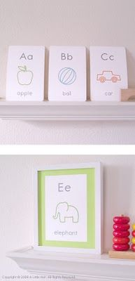abc printables for the playroom