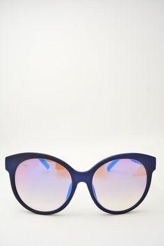 Logos DILETTA blue matte sunglasses #sunglasses #logos #bluematteframe #violetmirrored #butterfly #butterflyshape #violetmirroredlens #bassanodelgrappa #designglasses #design #cheap online store at www.bassanooptical.com