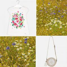 O rochiță ca o primăvară, plină de flori 🌺🌸🏵 se potrivește de minune cu geanta de rafie cu model floral, împreună realizând o ținută armonioasă!  Coduri produse: 10601PV19TST, 3930PV19VRD2  #marabukids #mayoral #tinutazilei Model, Scale Model, Models, Template, Pattern, Mockup, Modeling