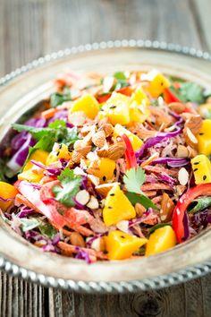 Rainbow Kelp Noodle Salad with Lemon Almond Ginger Dressing