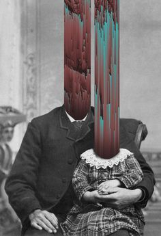 """Italian digital artist Giacomo Carmagnola creates a spectacular collage in the style of glitch art. From the burning monk in """"Saigon"""" to Jesus's crucifixion in """"Meltchrist"""" – the digital artist combines the old and new Glitch Art, Glitch Photo, Digital Collage, Collage Art, Digital Art, Photomontage, Collages, Inspiration Artistique, Arte Obscura"""