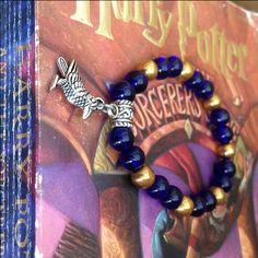 Harry Potter Bracelet, Harry Potter Jewelry, Harry Potter Charm Bracelet, Harry Potter Jewelry, Harry Potter Merchandise, Ravenclaw Bracelet by TwinWatersJewelry on Etsy