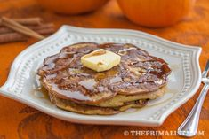 Pumpkin Spice Pancakes (Gluten-free)