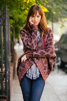 Printed Sweater-Perfect for fall