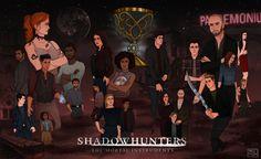 Twitter: @ShirmirArt 'This is the hunt' #shadowhuntersseason2 today ! ✨ @ShadowhuntersTV @FreeformTV #Shadowhunters