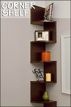 Make the most out of any corner space with these clever shelving unit!