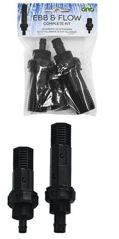 """GRO1 Ebb /& Flow Kit Fill /& Drain Fittings 1//2/"""" and 3//4/"""" Complete Kit Bulk-Head"""