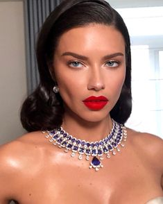 She Is A Vision @adrianalima Hair By @laurapolko Makeup By @patrickta Styled By @elizabethsulcer Cannes Film Festival 2018 Lipstick By…