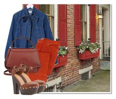 """Denim,Nantucket Red & Chesnut"" by queenvirgo ❤ liked on Polyvore featuring Thos. Baker, ASOS, Byredo and Charlotte Russe"