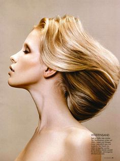 This Hannah Richter Woman Magazine Series Features Flawless Hairstyles #hair trendhunter.com