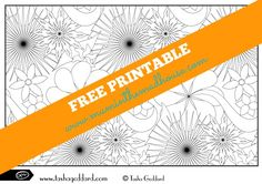 Exclusive free printable flowers colouring page from tasha Goddard. This beautiful free adult colouring page is yours to print and colour for free. This free colouring page would also be great for teen art and crafts.