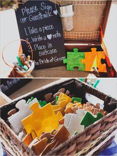 puzzle piece guestbook idea