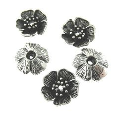 5 pcs Antique Oxidized Silver Plated on by FancyGemsandFindings, $4.50 Oxidized Silver, Antique Silver, Brass, Silver Plate, Unique Jewelry, Handmade Gifts, Antiques, Flowers, Etsy
