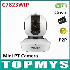 52.60$  Buy here - http://alihub.worldwells.pw/go.php?t=32740078154 - Vstarcam C7823WIP wireless IP camera 720P HD 1MP PT Mini Dome CCTV camera IR 10M day night vision security cam with TF card slot 52.60$