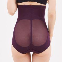 5d6353dda8484a Stylish Plus Size Front Closure High Waist Tummy Shaping Shapewear Briefs