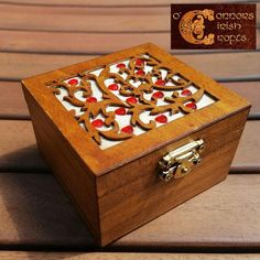 O'Connors Trinket Jewellery Nik Nak Box Wooden with Red Mini Hearts Jewellery Boxes, Jewelry Box, Celtic Crafts, Mini Heart, Linseed Oil, Craft Shop, Wooden Jewelry, Wooden Boxes, Red And Pink