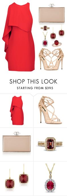"""""""Ravishing Red"""" by claire394 ❤ liked on Polyvore featuring Halston Heritage, Dolce&Gabbana, Judith Leiber, Anne Sisteron and Allurez"""