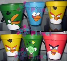 Maceteras Angry Birds