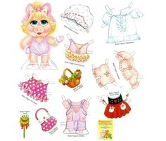Aww I still have this somewhere! I loved playing with my Miss Piggy paper doll at my Omi's house. My favorite was putting her in her rain outfit :)