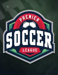 Premier Soccer League Sports Logo by ovozdigital on Envato Elements Premier Soccer, Jersey Designs, Esports Logo, Soccer League, Game Logo, Logo Templates, Badge, Typography, Logos