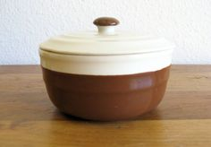Oxford Stoneware Bowl with Lid by MarketHome on Etsy, $16.00