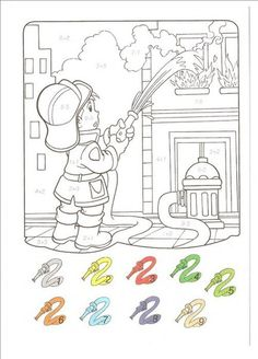 Fall Coloring Pages, Coloring For Kids, Printable Coloring Pages, Community Helpers Worksheets, Color By Number Printable, Alphabet And Numbers, Winter Colors, Print Pictures, Math Activities