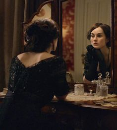 Michelle Dockery as Lady Mary Crawley in Downton Abbey (2010).