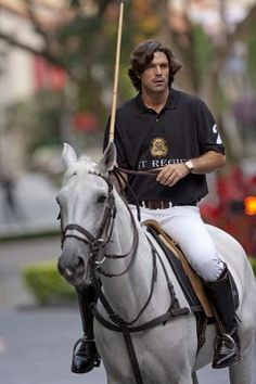 Star Polo player and Ralph Lauren model Nacho Figueras.  Leaves me breathless.