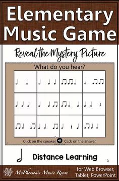Elementary Music Distance Learning Rhythm Game {Half Notes}