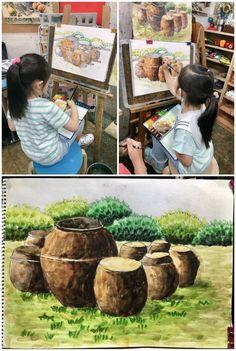 <6월달 초등 수채화반 미술수업 모습>안녕하세요 한여울미술학원입니다. 날씨가 점점 더워지는 6월달... 4 Kids, Art For Kids, Crafts For Kids, Art Education, Watercolor Art, Graphic Art, Coloring Pages, Art Projects, Drawings
