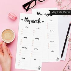 Weekly Planner / Printable / To do list / week / organize /