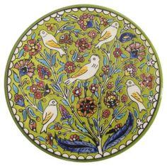 Ian Snow Green Palestinian Birdy Plate by Ian Snow Ltd, http://www.amazon.co.uk/dp/B00CA2ZW7W/ref=cm_sw_r_pi_dp_tm4dtb007CVRT