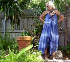 OOAK Tye Dye Dress with Vintage Ties and Fairy Hem by avantegarb, $94.00