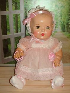 Vintage Effanbee Dy-Dee Doll ~ My little doll has the same rattle.