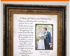 Wedding Quotes :Unique Wedding Day Gifts For Parents of the Bride Mother and Father from Daughter Thank You Gift For Parents, Wedding Gifts For Parents, Wedding Thank You Gifts, Wedding Gifts For Groom, Personalized Wedding Gifts, Our Wedding Day, Bride Gifts, Spring Wedding, Perfect Wedding