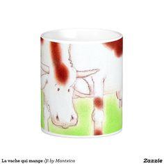 La vache qui mange :)! caneca Shot Glass, Tableware, Mugs, Cow, Eat, Dinnerware, Tablewares, Place Settings, Shot Glasses