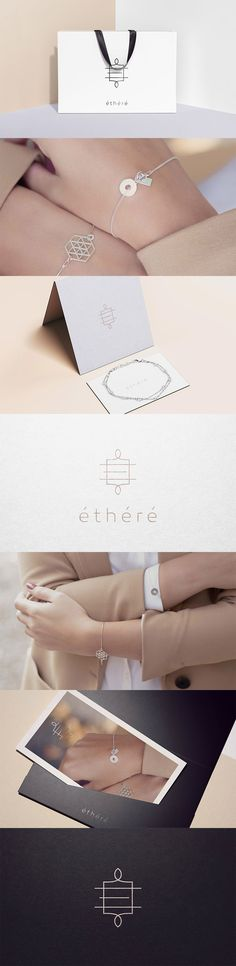 The main feature of the brand is ethereality, which was included in the name. Ethéré jewelry is very delicate, sophisticated and beautiful. That's what a logo had to be.