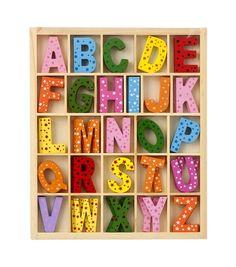 lettres de l'alphabet en bois - HEMA