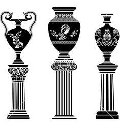 Greek vases 2 vector art - Download Decoration vectors - 978679