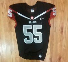 Georgia Bulldogs NCAA Team Jersey Football Nike Large 2016 Black Gray Silver #Nike #GeorgiaBulldogs