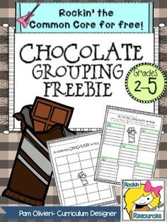 FREE!  Fun activity to get those brains rockin!  Brainstorm chocolate words then divide them up into groups that relate to each other!