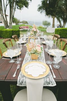 Photography: One Love Photo - onelove-photo.com Read More: http://www.stylemepretty.com/2014/08/01/gold-and-blush-hued-outdoor-wedding-in-malibu/