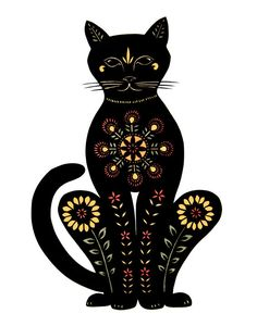 Cat  Cut Paper Art Print by ruralpearl on Etsy, $37.00