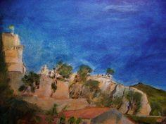 """Saatchi Art Artist Henry Castle; Painting, """"Boulbon Castle 2005"""" #art"""