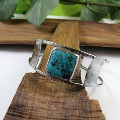 Sterling Silver Wide Bangle with Chrysocolla £60.00